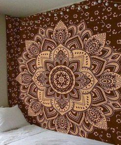 Wandbehang Braunes Mandala